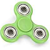Wowstar Tri-Spinner Fidget Toy EDC Focus Toy with the New Technology Silent Soft-Closing Bearing-Green