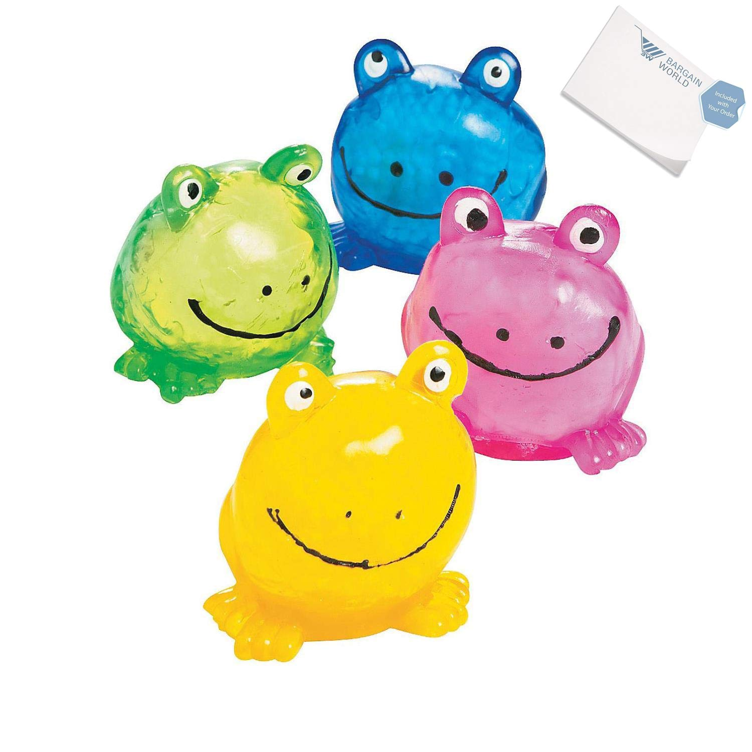 Bargain World Squeezable Sticky Frogs PDQ (With Sticky Notes)