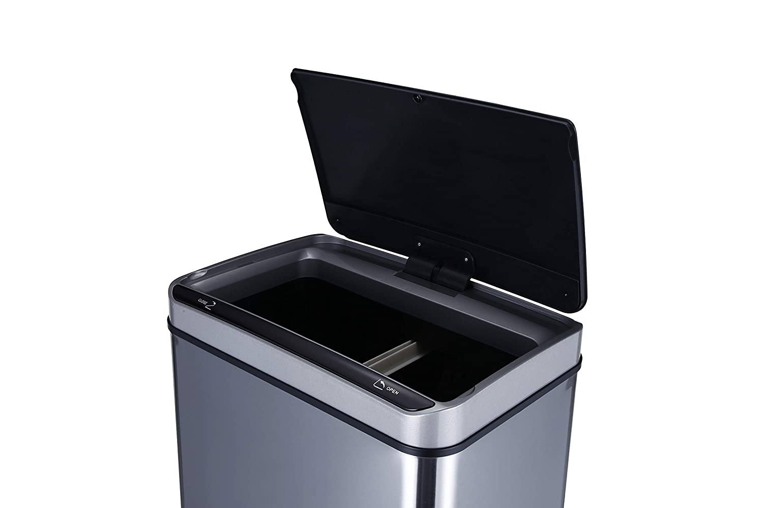 18.5 Gallon Two-In-One Sensor Trash Can Single and Dual Compartments