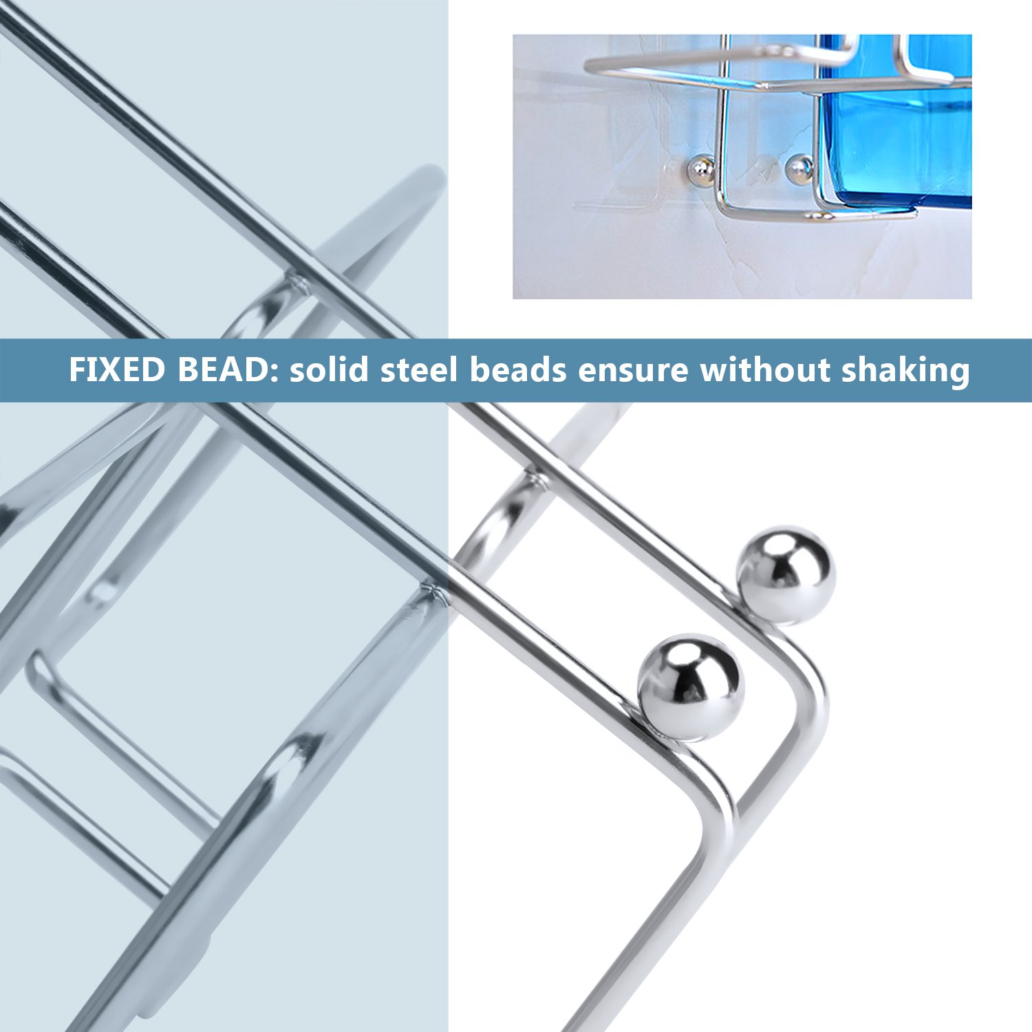 Amazon.com: FAMLOVE Toothbrush Holder Wall Mounted Stainless Steel ...