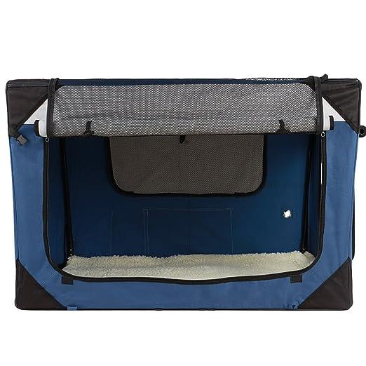 Leopet - Bolso de transporte para mascotas (plegable, de poliéster, color azul) en diferentes tamaños a elegir: Amazon.es: Hogar