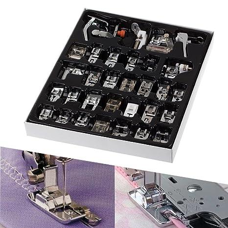 Konesky Máquina de coser de 32 piezas Máquina de coser Prensatelas Máquina de coser doméstica Juego