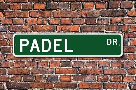 Aersing Divertido Metal Signos Padel Sign Padel Fan Padel Player ...