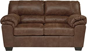 Signature Design by Ashley - Bladen Contemporary Plush Upholstered Loveseat - Coffee Brown
