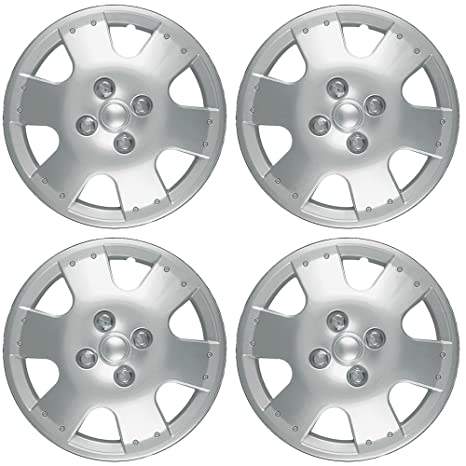 14 inch Hubcaps Best for 2000-2002 Toyota Tundra - (Set of 4) Wheel Covers 14in Hub Caps Silver Rim Cover - Car Accessories for 14 inch Wheels - Snap On ...