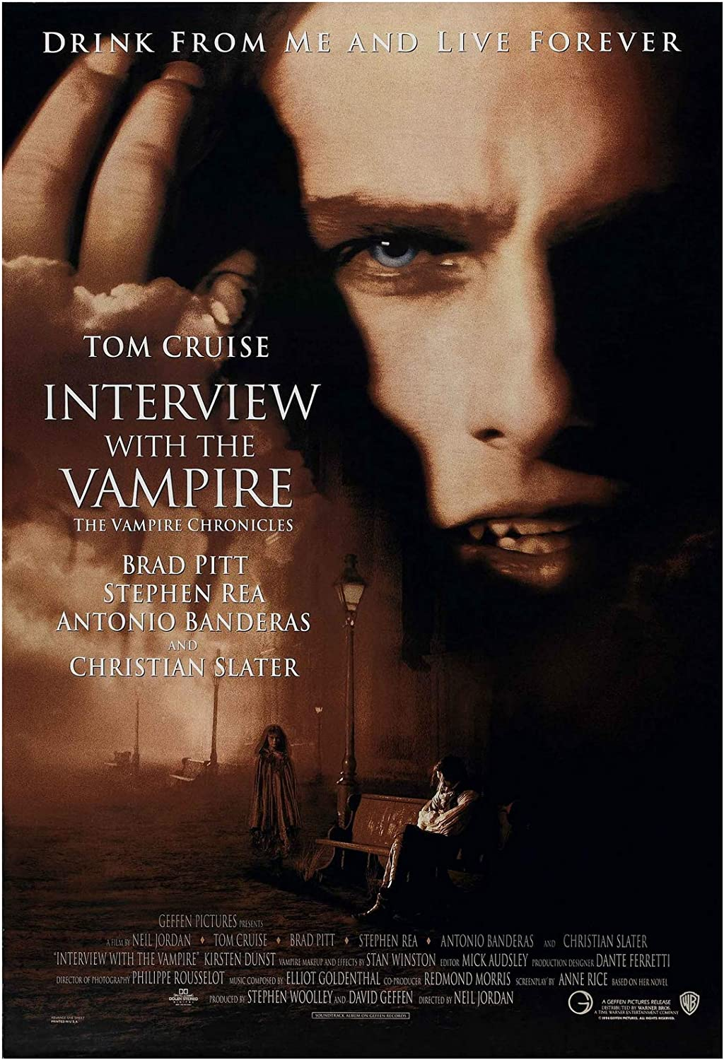 Interview with The Vampire Movie Poster 24 x 36 Inches Full Sized Print Unframed Ready for Display
