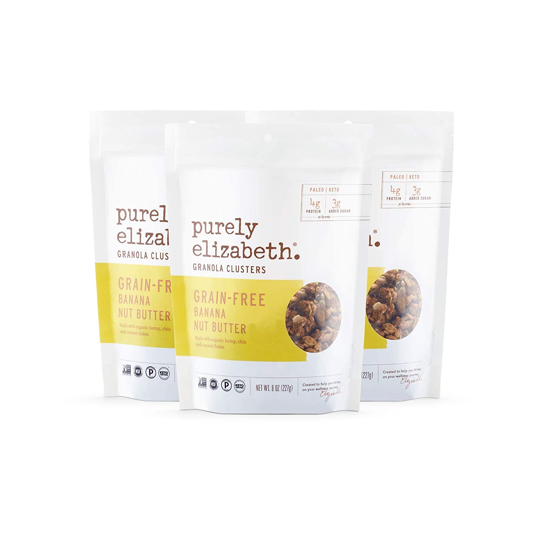 Purely Elizabeth Vegan Grain & Gluten-Free Keto Granola, Banana Nut Butter (3 Ct.)