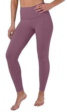 82279d930e1baf 90 Degree By Reflex High Waist Squat Proof Ankle Length Interlink Leggings  - Antique Rose -