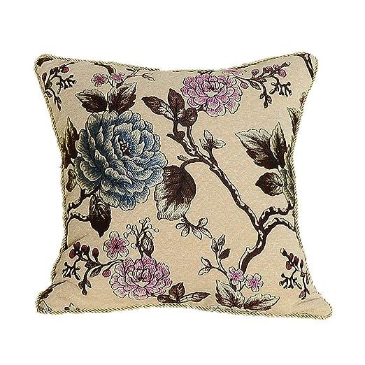 MeMoreCool lujo clásico sofá cojín Cover, Exquisito Jacquard ...