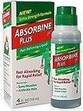 Absorbine Jr Plus Pain Relieving Liquid - New Extra Strength Formula - 4 Fl Oz (Pack of 2)