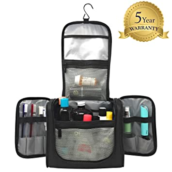 Hanging Toiletry Bag Water Resistant Machine Washable Large Organizer for  Men   Women Spacious Compact Kit fdc8ea9c9da8f
