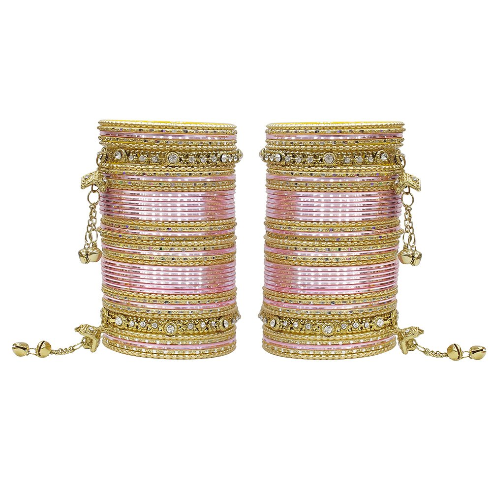 MUCH-MORE 86 Bangles Set of Multi Colour Amazing Collection of Latkhan Bangles Set 2.4)