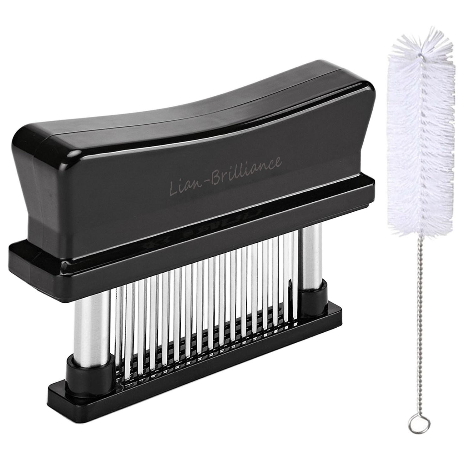 48 Blade Stainless Steel Manual Meat Tenderizer-Professional Tenderizing Steak Beef Veal Pork Fish Chicken in Kitchen and Barbecue – Black Lian-Brilliance