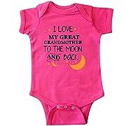 inktastic - I Love My Great Grandmother to Infant Creeper Newborn Hot Pink 2965f
