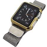 LEPLUS Apple Watch 42mm ハードケース 「METAL HARD」 ゴールド LP-AW42MCGD