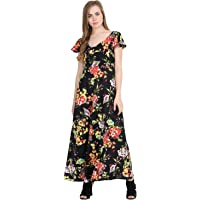 Raghumaya Women Multicolor Floral Printed Maxi Dress