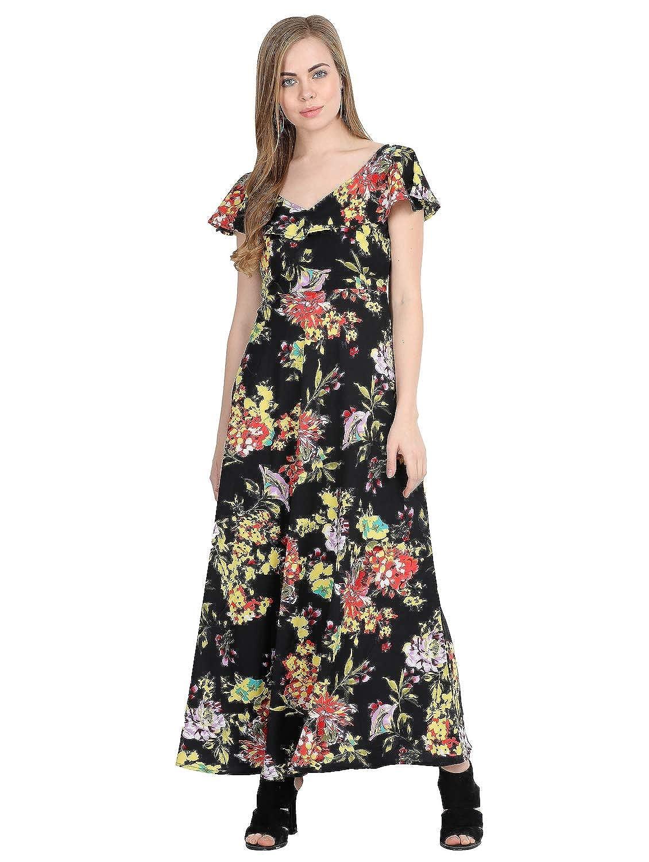 Raghumaya Women Multicolor Floral Printed Maxi Dress
