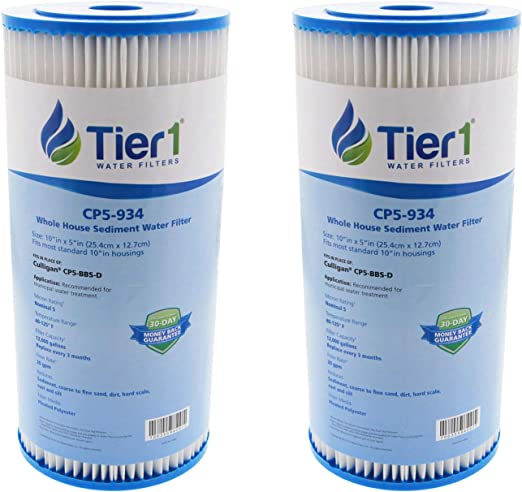 Tier1 CP5-BBS-D CP5-BB W5CPHD 5 Micron 10 x 4.5 Pleated Polyester Sediment Culligan Pentek /& American Plumber Comparable Replacement Water Filter 2-Pack