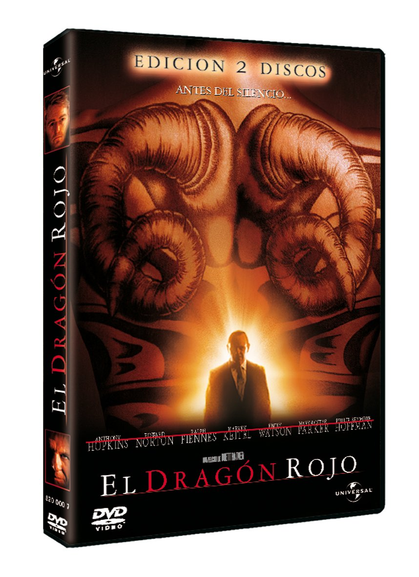 El dragón rojo [DVD]: Amazon.es: Anthony Hopkins, Ralph Fiennes, Edward Norton, Anthony Heald, Philip Seymour Hoffman, Mary-Louise Parker, Harvey Keitel, ...