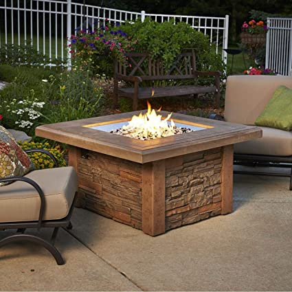 Outdoor Fire Pit Coffee Table.Outdoor Great Room Montego Crystal Fire Pit Coffee Table With Balsam Wicker Base