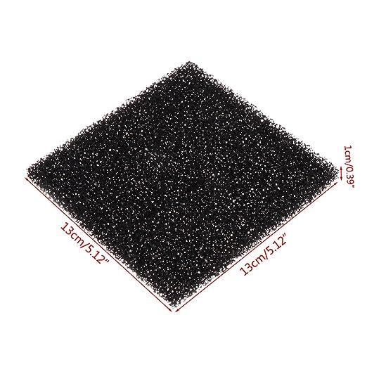 SimpleLife 5 Piezas Esponja de Espuma de carbón Activado Negro Universal Filtro de Aire impregnado Almohadilla: Amazon.es: Hogar