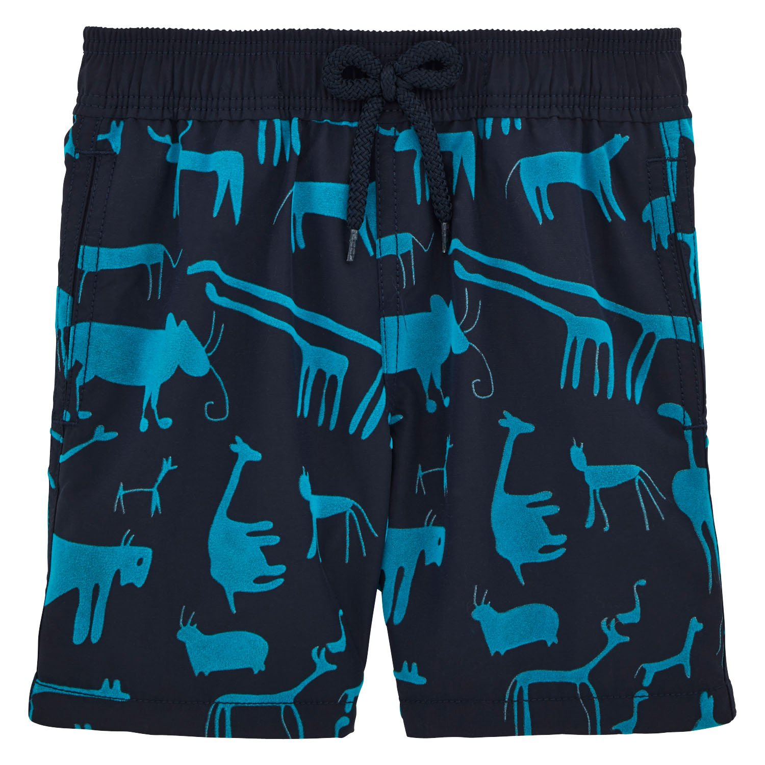 Vilebrequin Primitive Art Flock Swim Shorts - Boys - navy - 6Yrs by Vilebrequin