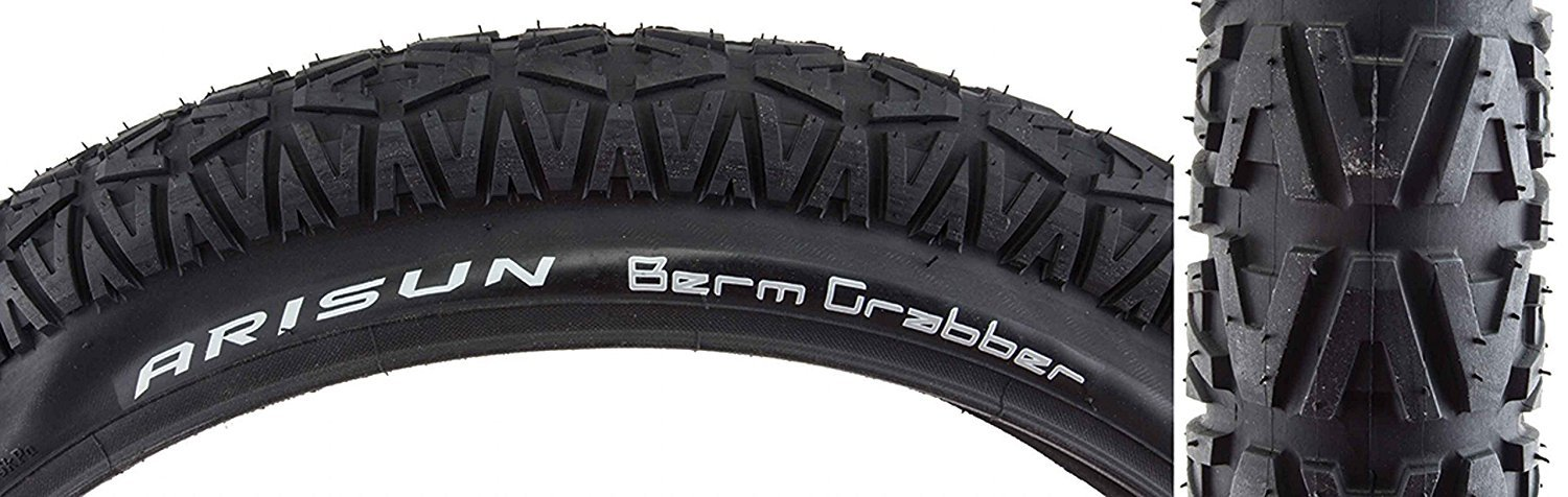 "Arisun Berm Grabber 20/"" x 1.85/"" BMX Ramp Bike Stunt Freestyler Tyres Black"