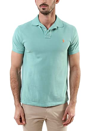 Polo Ralph Lauren SSKCSLM1-SHORT Polo, Grün (Dusted Ivy XW7MR), M ...