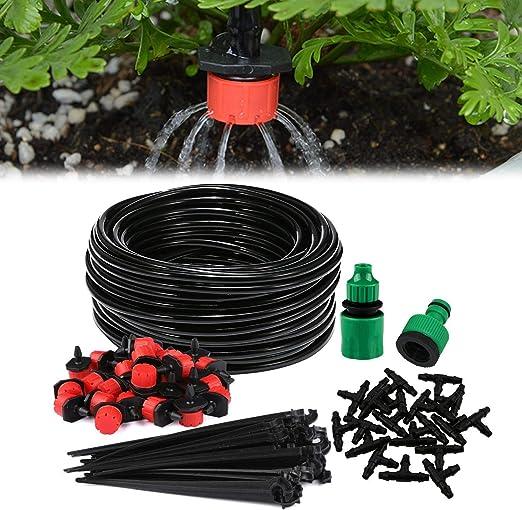 Sistema de riego de jardín, Aiglam Micro Kit de riego por Goteo Riego automático Rociadores automáticos