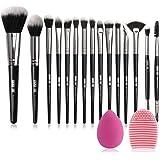 MAANGE-Brochas de Maquillaje Professional 15 Piezas Premium Suaves y Firmes Brochas para Maquillaje Practicas Brochas para Oj