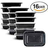 Meal Prep Containers[16 Pack]Meal Prep Bowls Food Containers Bento Box Lunch Box BPA Free ,Food Prep,Portion Control,Reusable, Washable Microwave Safe (28oz)