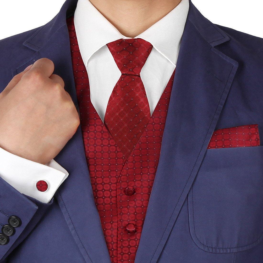 Y&G - Gemelos de pajarita con patrón de novio para hombre - Rojo ...