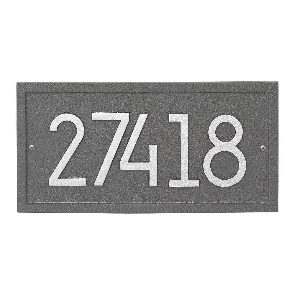 "Custom Modern RECTANGLE Address Plaque 15""W x 8""H (1 Line)"