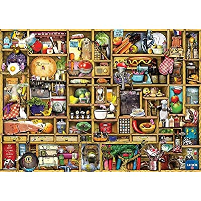 Puzzle 1000 Piece Jigsaw Puzzle for Adults,Bzdthh,The Kitchen Cupboard,Every Piece is Unique,Pieces Fit Together Perfectly: Toys & Games