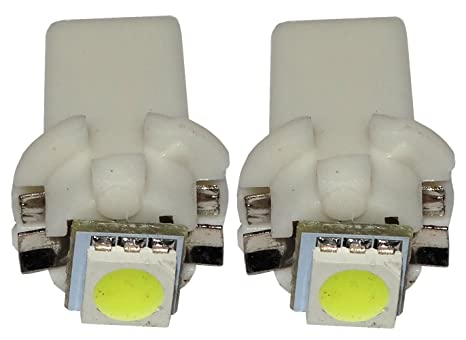 AERZETIX: 2 x Bombillas T5 12V LED SMD para salpicadero Luz blanco