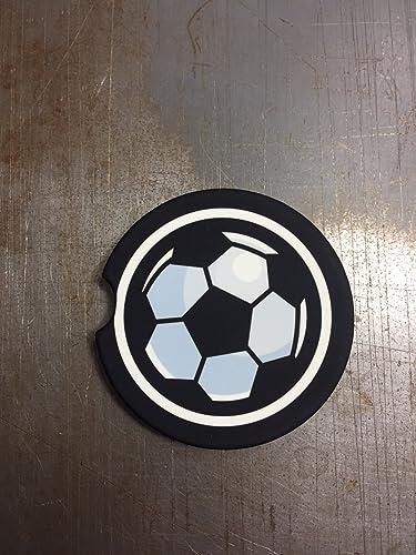Amazon.com: Sports Car Coasters — Set of 2 — Soccer Ball Pattern ...