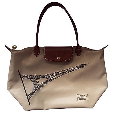 b57c76cb5328 Longchamp Beige Tour Eiffel Purse Large Bag New  Handbags  Amazon.com