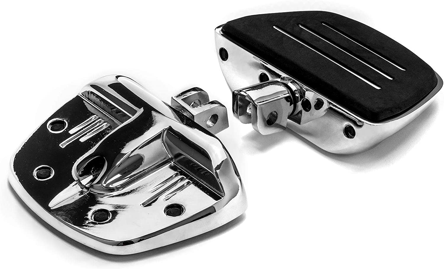 Krator Chrome Mini Board Floorboards Footpegs for Can-Am Spyder RS Models 2008-2016 Front Only