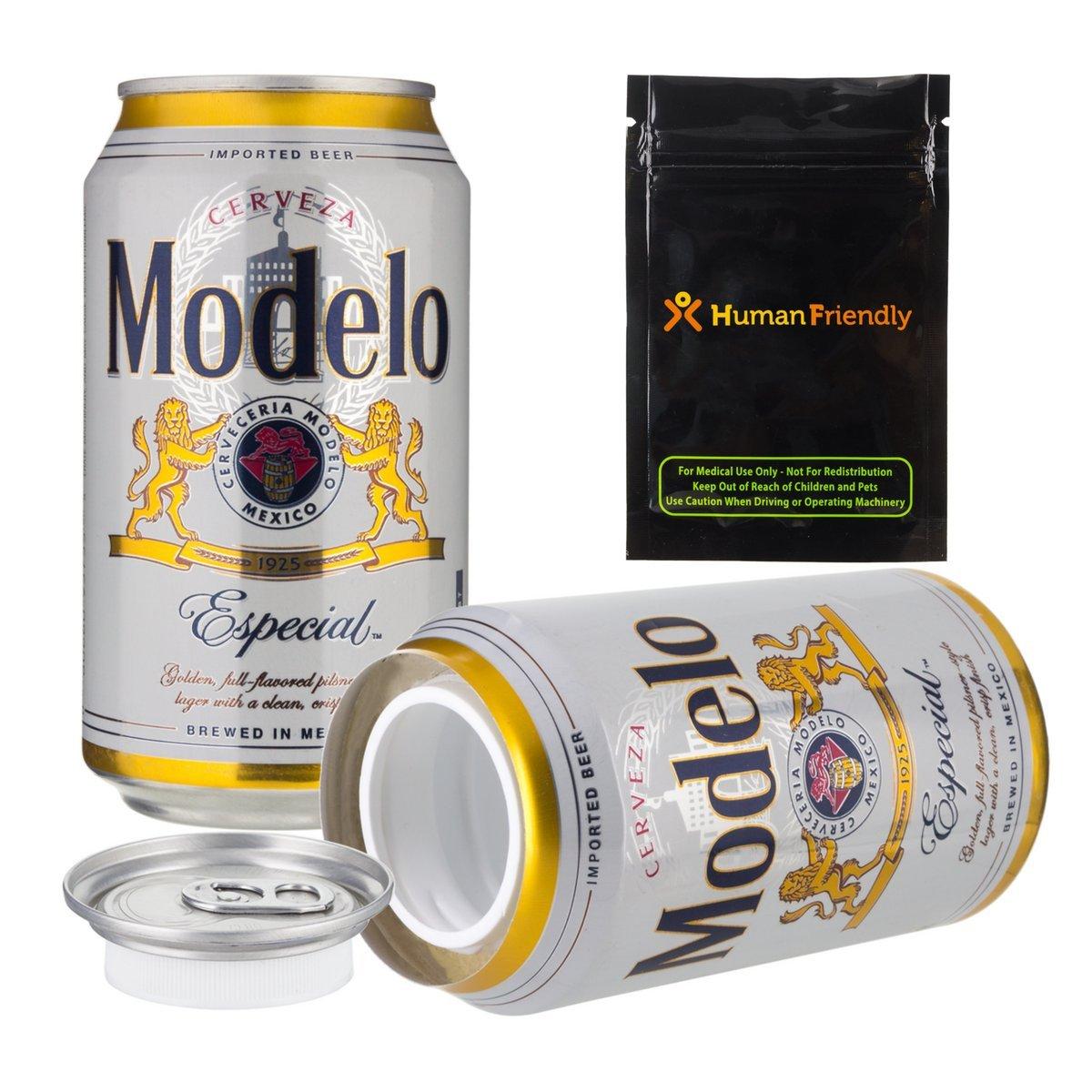 Modelo Especial Beer Diversion Safe Secret Stash Beer Can 12 oz w HumanFriendly Smell Proof Bag