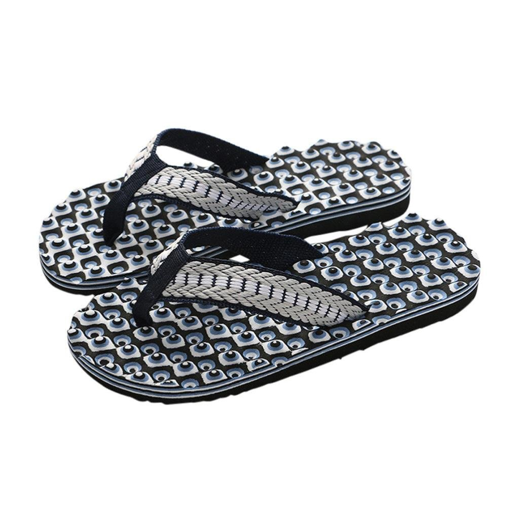 Men Summer Flip-Flops,Clearance! AgrinTol Comfortable Massage Male Slipper Indoor & Outdoor Shoes Sandals (40, Black)