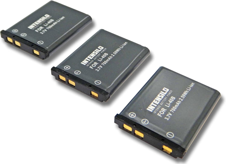 3.7V NP-80. f/ür Kamera Camcorder Casio Exilim EX-Z800 D-Li63 EX-ZS150 wie Li-40 INTENSILO Li-Ion Akku 700mAh EX-ZS5 EX-ZS100 EX-ZS6