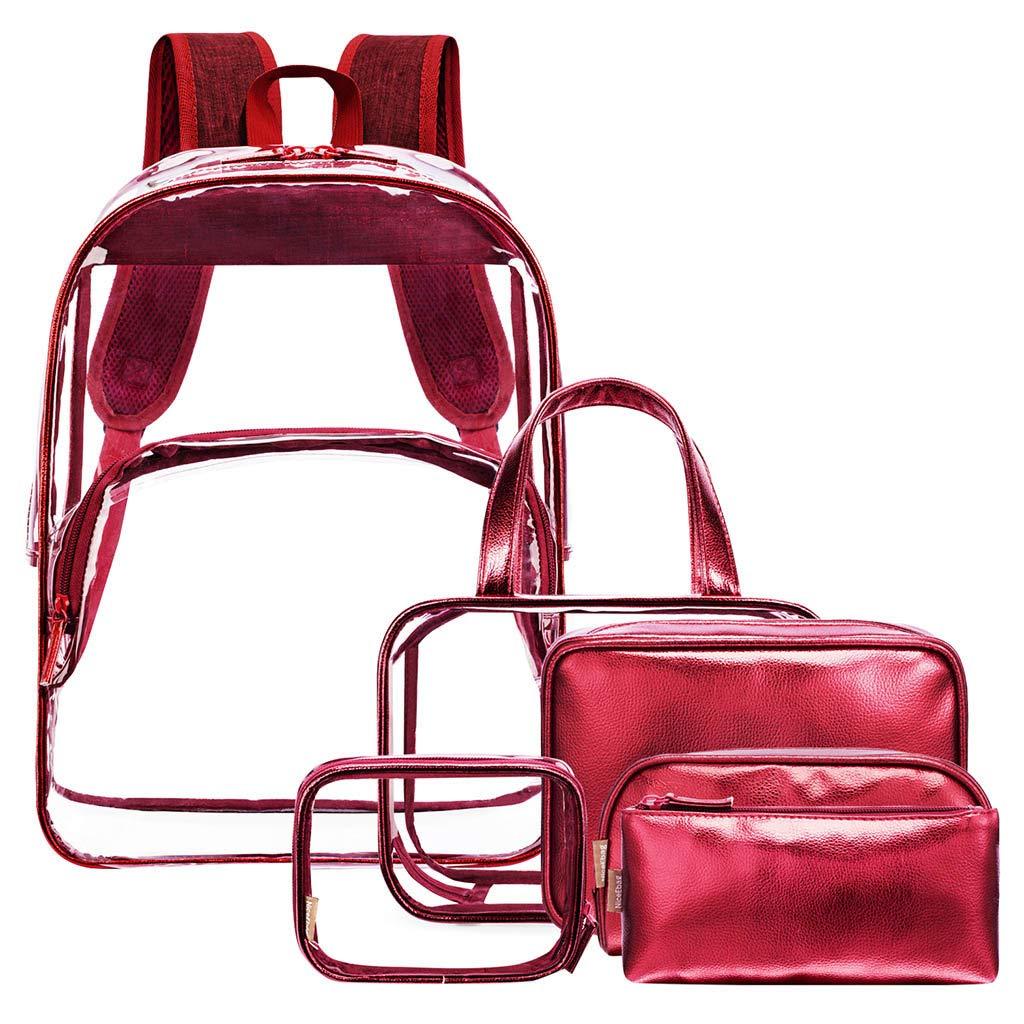 Tronet Casual Daypack for Travel, Fashion Women's Transparent Jelly Zipper Square Shoulder Bag Messenger Bag
