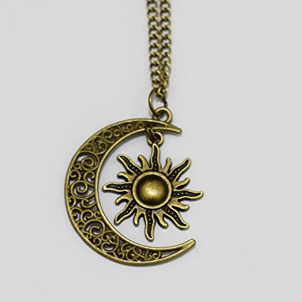 Amazon sun and moon friendship necklace jewelry bbf necklace sun and moon friendship necklace jewelry bbf necklace aloadofball Images