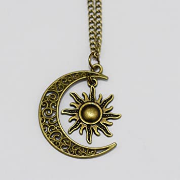 Amazon sun and moon friendship necklace jewelry bbf necklace amazon sun and moon friendship necklace jewelry bbf necklace arts crafts sewing mozeypictures Choice Image