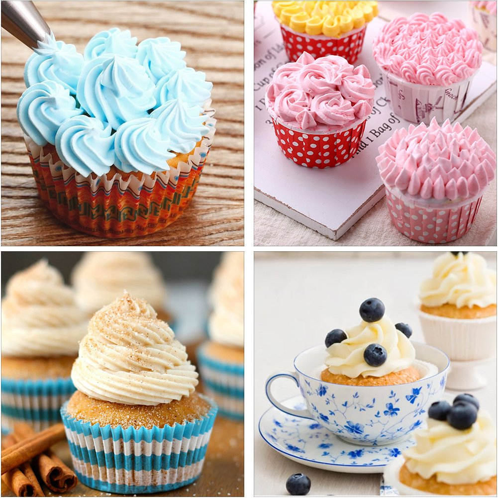 Cake Cupcake Decorating Supplies Kit 53pcs, Yblntek 48 Cake Decoration Icing tips, 2 Flower Nails, 2 Coupler and a Silicone Pastry Bags Baking Supplies Frosting Tools Set for Cookies