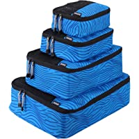 Travel Packing Cubes 4 pc Set Packing Organizers, X-Small, Small, Medium, Large