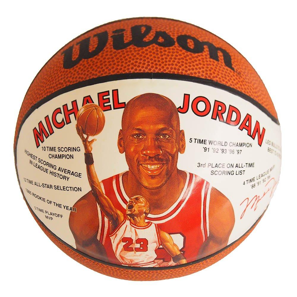 Wilson(ウィルソン) NBA ブルズ マイケルジョーダン ミニバスケットボール 1991年モデル -   B071RVM18Q