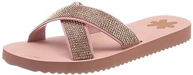 flip flop Damen Crossglam Offene Sandalen, Pink (Ballet), 38 EU