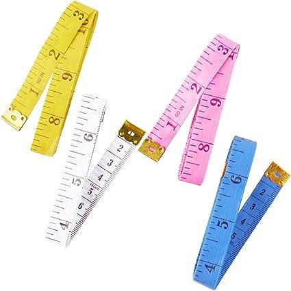herramienta de regla suave retr/áctil para mediciones degrasa corporal.. de doble cara pulgadas y CM Cinta m/étrica para medir el cuerpo, paquete de 2 port/átil