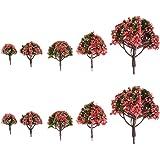 【ノーブランド品】樹木 桃の木 花の木 モデルツリー 10本 鉄道模型 ジオラマ